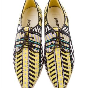 Cavalli Espadrille Oxfords, Made In Italy